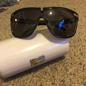 Jimmy Choo Dixon sunglasses black and gold